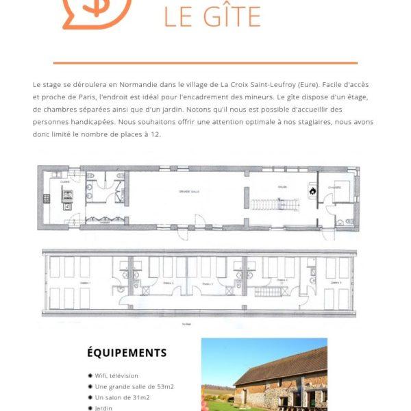 Stage PGF - Le gîte