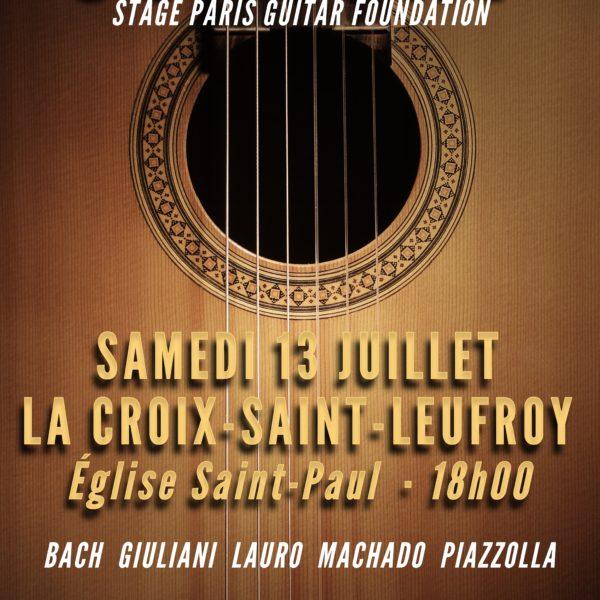 Stage PGF - Affiche Concert